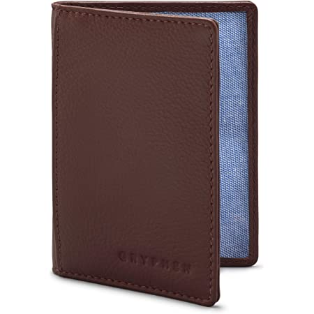 The Hoxton Leather Oyster Card/Travel Pass Holder by Gryphen - Brown