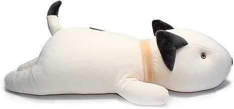 Vintoys Bull Terrier Dog Big Hugging Pillow Soft Plush Toy Stuffed Animals White 21