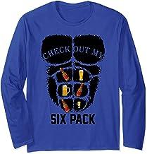 Check Out My Six Pack Funny Beer Mugs Oktoberfest men women Long Sleeve T-Shirt