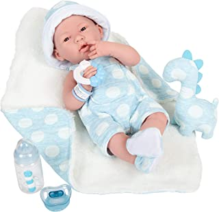 """JC Toys La Newborn All-Vinyl-Anatomically Correct Real Boy 15"""" Baby Doll in Blue and Deluxe Accessories, Designed by Beren..."""