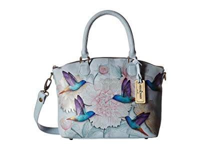 Anuschka Handbags 484 Medium Convertible Satchel (Rainbow Birds) Handbags