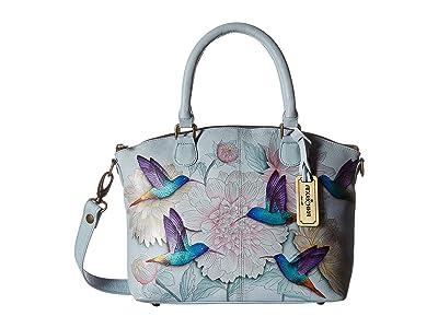 Anuschka Handbags 484 Medium Convertible Satchel (Rainbow Birds) Handbags