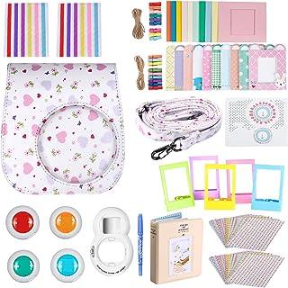 Neewer 33-en-1 Kit de Accesorios para Fujifilm Instax Mini 8/8s:Caja/álbum/Lente Selfie/Filtro de Color/Marco de Mesa/Colgante Marco de Pared/Decorativos Etiqueta/Lapiz.(Blanco)