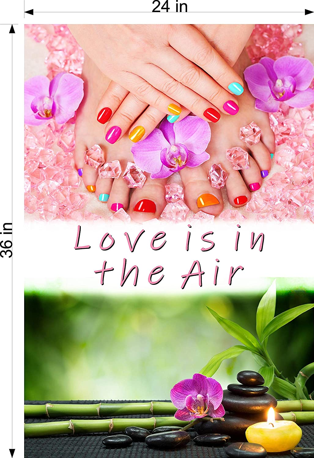 NAILSIGNS.com Reservation Quote X Love is in The Nail Air Super special price Adv Spa Salon Sign
