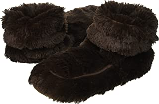 Furry Warmers Fully Microwavable Furry Boots Brown