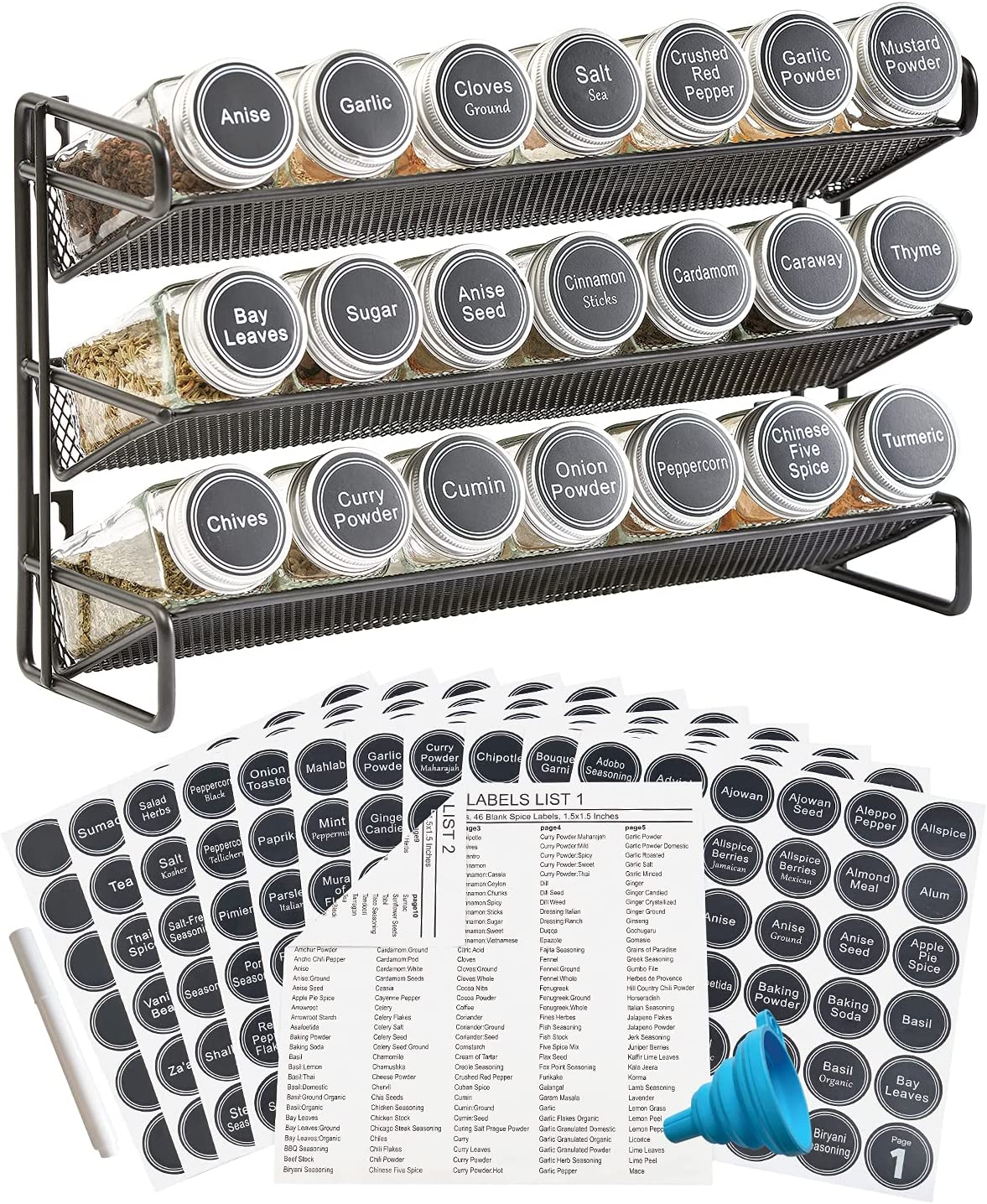 3 Tier Spice Rack Organizer Empty Jars with New product! New type 386 Max 40% OFF 21