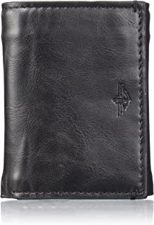 Men's Extra Capacity Trifold Wallet, Dark Black, One Size