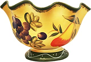 Tuscan Collection Deluxe Hand-Painted Fruit Bowl