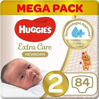 Huggies New Born Diapers, Size 2, Mega Pack, 4-6 kg, 84 Diapers