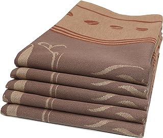 ZOLLNER 5er Set Geschirrtücher Baumwolle, 50x70 cm, braun weitere verfügbar