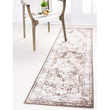 Unique Loom Sofia Traditional Area Rug, 2' 0 x 6' 7, Light Brown