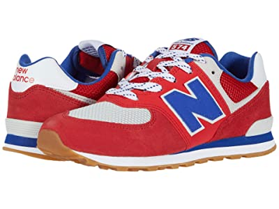 New Balance Kids 574 Core Plus (Big Kid) (Team Red/Marine Blue) Boys Shoes