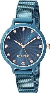Nine West NW/2340TEAL - Reloj de pulsera para mujer con correa de goma, color verde azulado