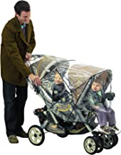 J is for Jeep Deluxe Tandem Stroller Weather Shield, Stroller Cover, Child Weather and Insect Protector, Double Stroller Cover