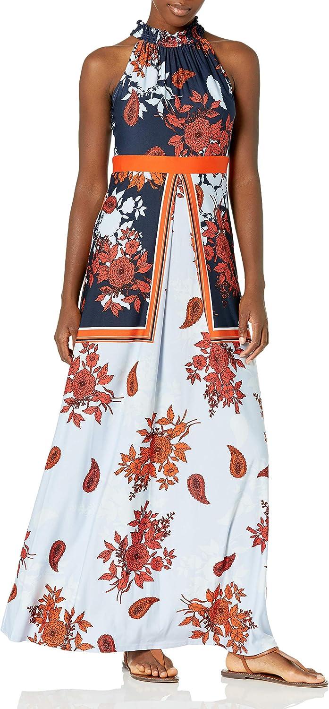 Gabby Skye Women's Mock Neck cheap Dress Maxi Dty Floral Print Wholesale