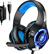 Sponsored Ad - USB Gaming Headset for PC, 7.1 Surround Sound Computer Headphones with Noise Cancelling Microphone, Over-Ea...