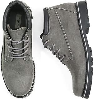 Will's Vegan Shoes Mens Low Dock Boots Grey Vegan Suede