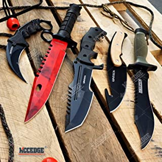 Tactical Knife Survival Knife Hunting Knife 5PC TACTICAL CSGO COMBO SET Fixed Blades Knives Camping Accessories Camping Gear Survival Kit Survival Camping Accessories 75684