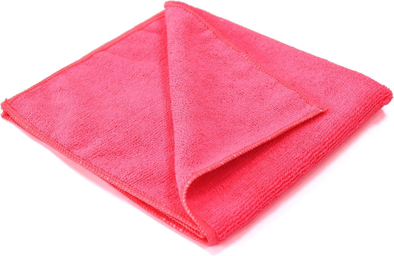 Maxshine 330GSM Microfiber Car Detailing Towel with Red Sewn Bor