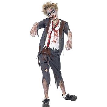 Smiffys 44326L - Disfraz de zombi convicto, color negro y blanco ...