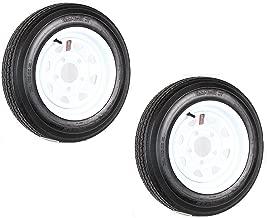 eCustomRim 2-Pack Trailer Tire On Rim 4.80-12 Load C 5 Lug White Spoke 30660