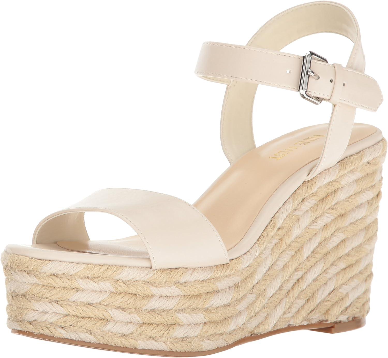 Nine West Womens Doitright Synthetic Wedge Sandal