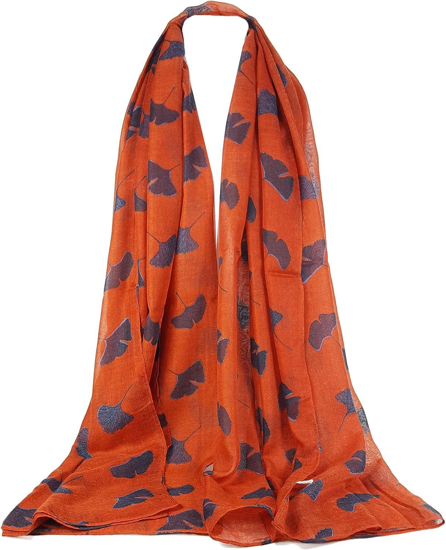 Bufanda con estampado de hojas grandes para mujer GlamLondon