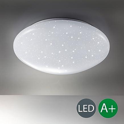 LED Deckenlampe inkl. 12W 1200lm LED Platine, Sternenlicht, Deckenleuchte 4000K kaltweiss, 230V, IP20, Ø 290mm