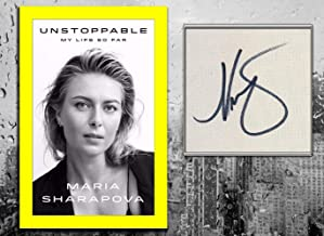 Maria Sharapova UNSTOPPABLE My Life So Far Signed Hardcover Book - Autographed Tennis Magazines