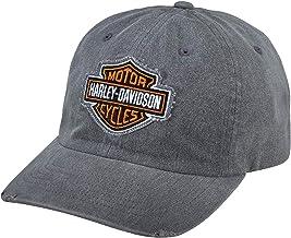 Harley-Davidson Men's Grey Frayed Logo Cap, Grey