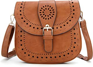 Ladie's PU Leather Vintage Hollow Bag Crossbody Bag Shoulder Bag