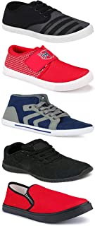 WORLD WEAR FOOTWEAR Sports Running Shoes/Casual/Sneakers/Loafers Shoes for MenMulticolors (Combo-(5)-1219-1221-1140-725-114)