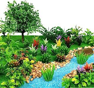 91pcs Model Trees Mixed Miniature Trees Model Train Scenery Fairy Garden Trees Diorama Trees Artificial Wargame Trees Mode...