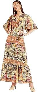 Iconic Women's 2091095 SS24PAISMXD Woven Cocktail Dress, Multicolor