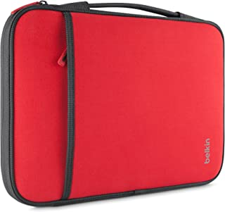 Belkin Laptop Sleeve for Surface Pro, MacBook Air, Chromebook, and Other 11-Inch Devices (Red)