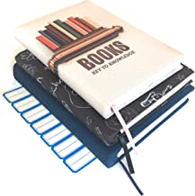 Stretchable Book Covers - A Jumbo Sized Cover, Custom Made Design, fits Most hardcover textbooks, Made of Washable and Reusable Stretchy Fabric. Pack of 3 with Free Stickers