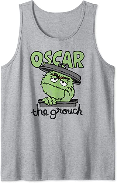 Sesame Street Early Grouch Adult Tank Top