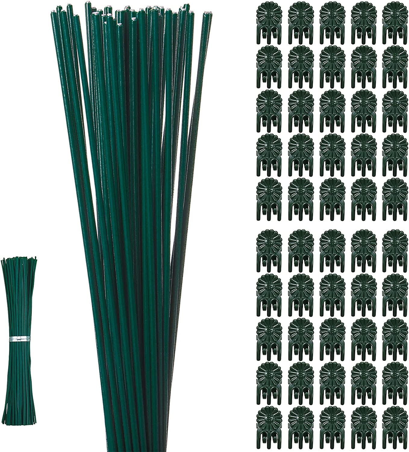 50 Pieces Plastic Coated Iron Wire Inch 15.9 Stem Single Over item handling ☆ S Sale Plant