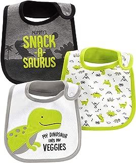 Carter's Child of Mine Baby Boys' 3 Pack Bibs (Green Dinosaur)