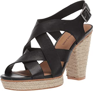 Lucky Brand Women's Cabino Leather Open Toe Strappy Heel Sandal