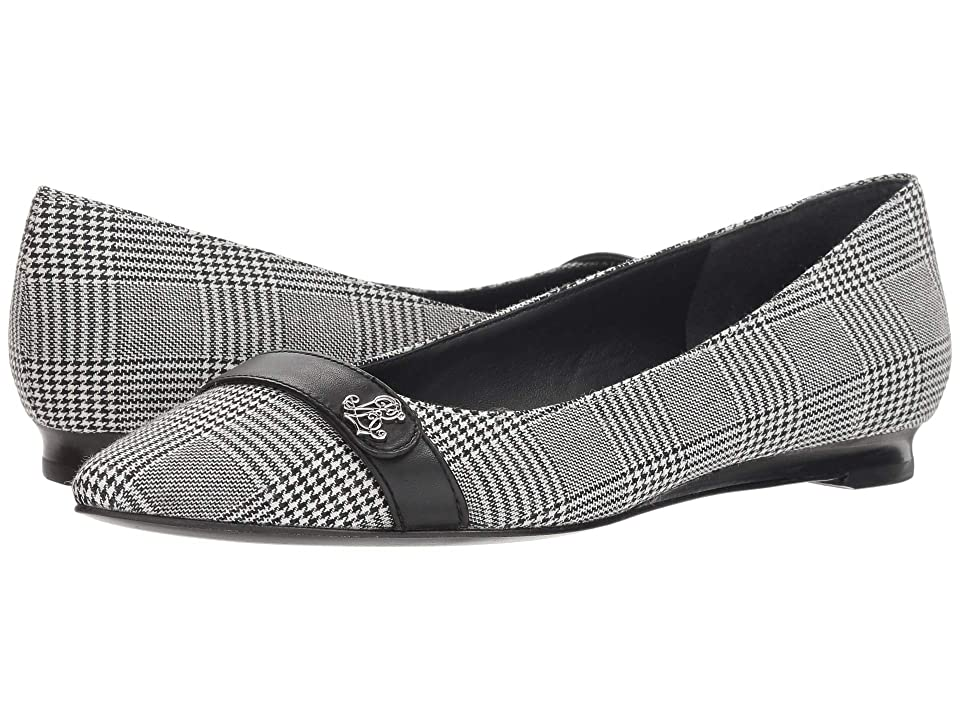 LAUREN Ralph Lauren Aminah II (Black/Cream/Black/Glen Plaid/Burnished Calf) Women