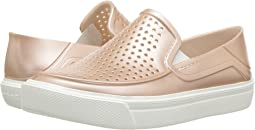 Crocs Kids CitiLane Roka Metallic Slip-On (Toddler/Little Kid)