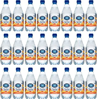Crystal Geyser Peach Sparkling Spring Water PET Plastic Bottles, BPA Free, No Artificial Ingredients or Sweeteners, 18 Fl ...