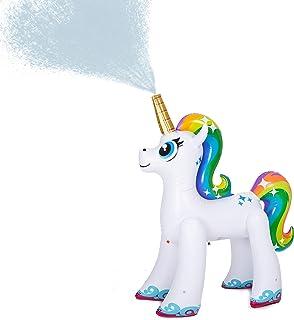 JOYIN Inflatable Unicorn Yard Sprinkler, Lawn Sprinkler for Kids, 4 Feet Tall