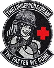 Louder You Scream The Faster We Come Military Pinup Girl Tactical Morale Patch