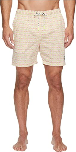 Psycho Bunny Bunny Print Swim Trunks