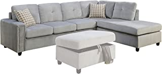 Best grey studded sectional Reviews