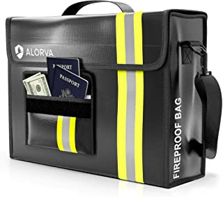 """ALORVA Fireproof Document Bag with Wallet Protector, 17"""" x 12"""" x 5"""" - Extra Strength, Waterproof Storage Safe Organizer Ba..."""