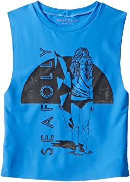 Seafolly Kids - Sapphire Coast Sleeveless Rashie (Little Kids/Big Kids)