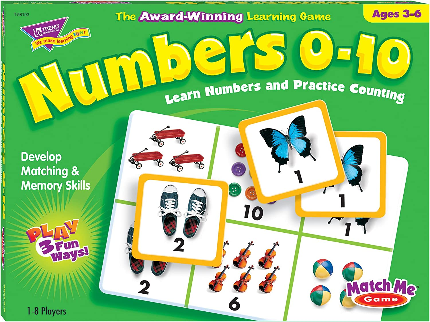 Numbers 010 T58102 Match Me Puzzle Game, Ages 36.